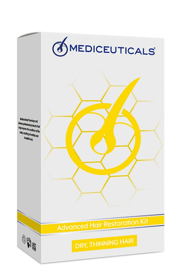 Mediceuticals Advanced Hair Restoration Kit Dry for the treatment of hair loss and thinning hair