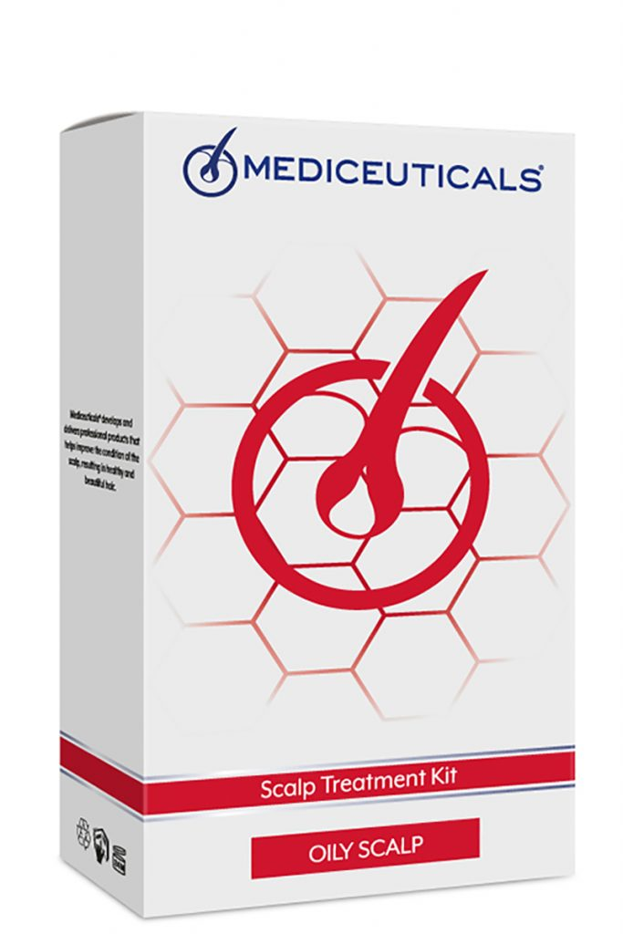 Mediceuticals Scalp treatment kit oily for the treatment of oily hair or an oily scalp